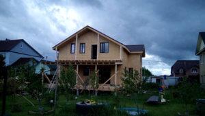 Дом по каркасной технологии п Белоярский