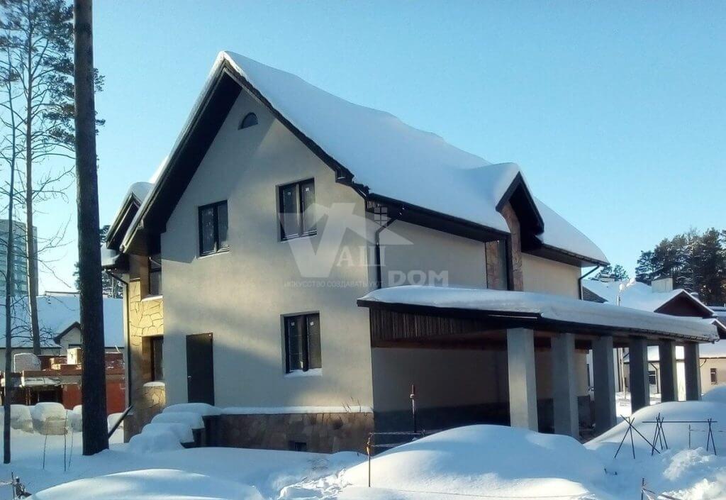 Коттедж в КП Краснолесье зимой